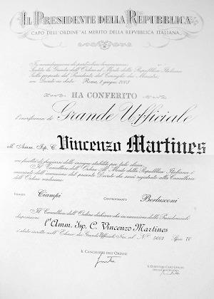Il sito dell 39 ammiraglio vincenzo martines for Sito della repubblica